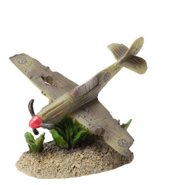 Top fin fighter plane aquarium ornament ornaments for Petsmart fish tank decorations