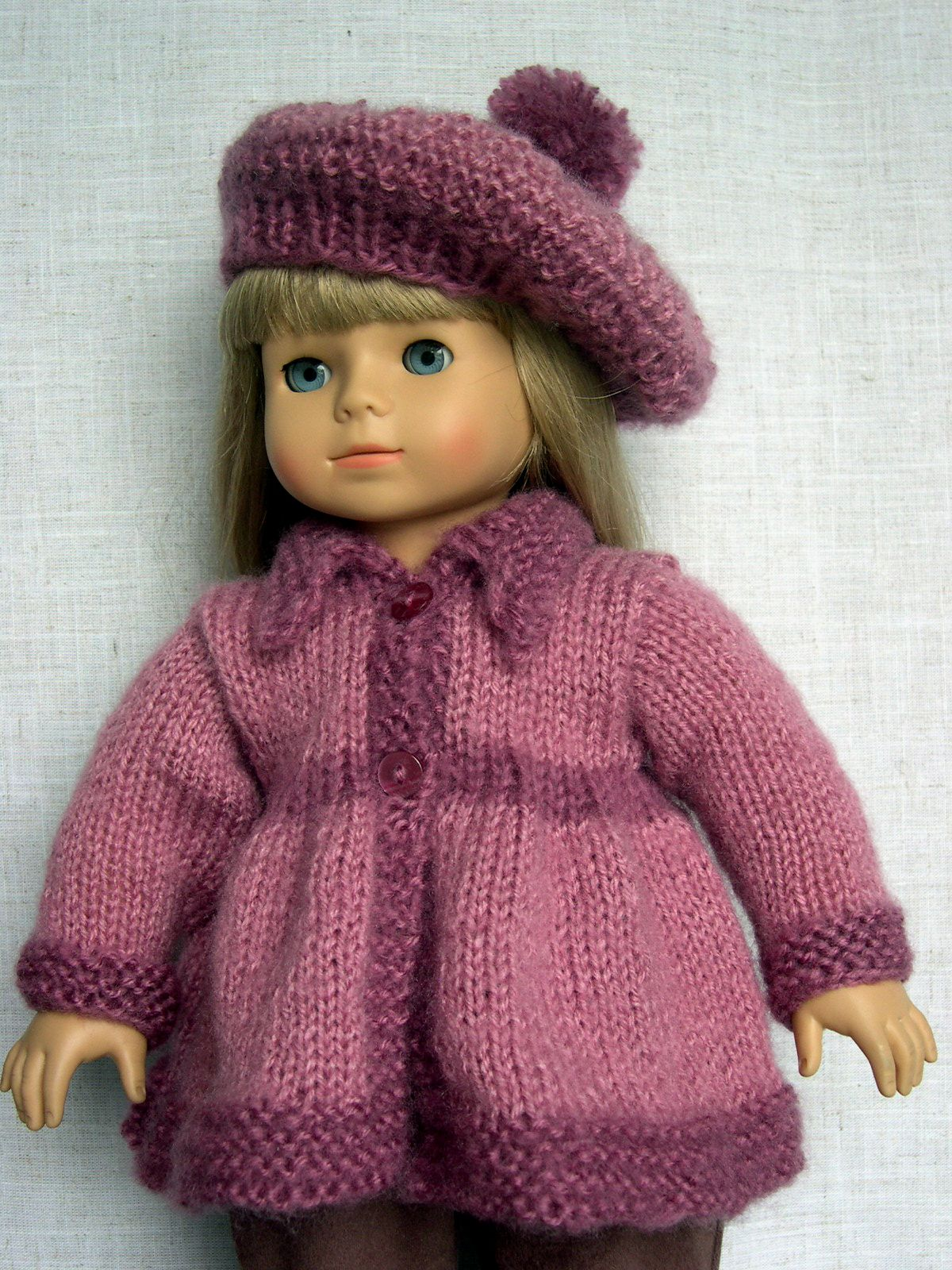 18 inch Doll Clothes Hand knit doll sweater and hat made to fit 18 ...