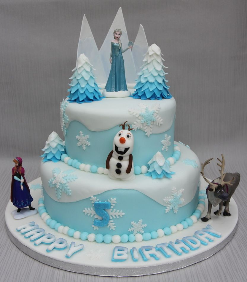 Birthday Cake Ideas Disney Frozen ~ Frozen cake ideas d bad ee a cad c super and designs cakes