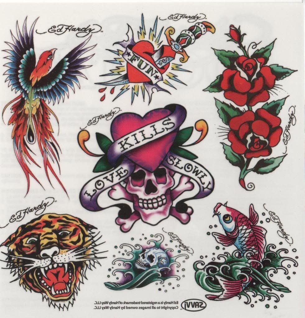 Ed Hardy | Watercolor Flash | Ed hardy tattoos, Ed hardy designs ...