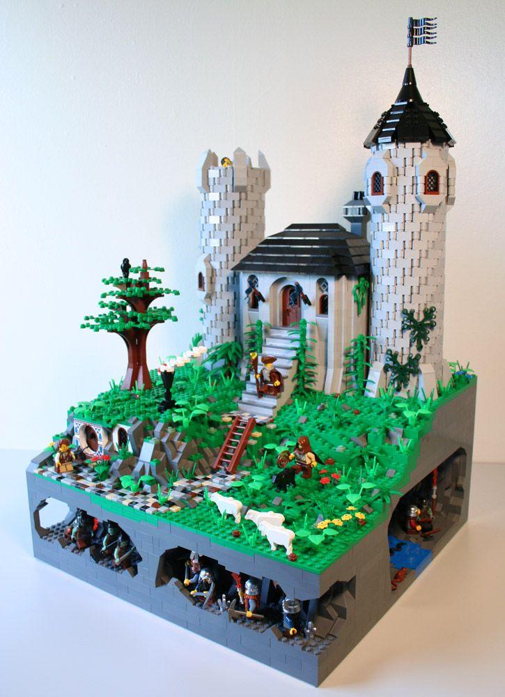Lego Castle With Underground Action Legos Lego Castle Lego