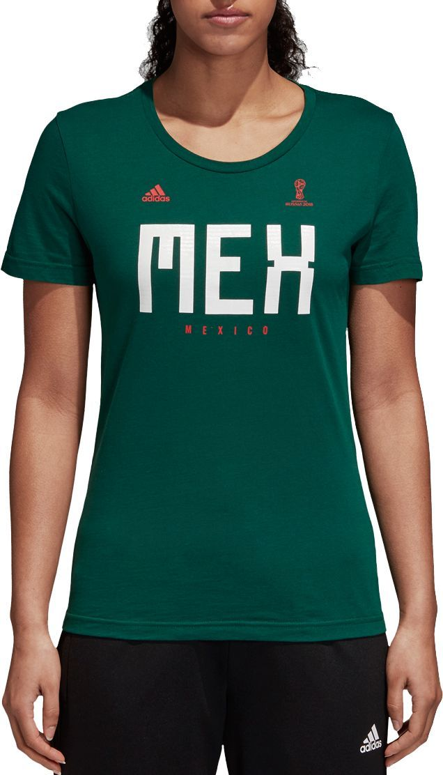 94a141de4 adidas Women s 2018 Fifa World Cup Mexico Crest Green T-Shirt