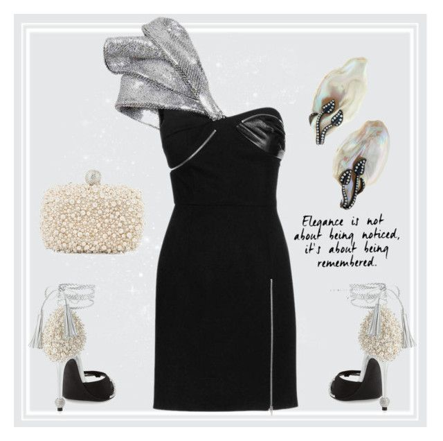 """""""Remembered"""" by engleann ❤ liked on Polyvore featuring Yves Saint Laurent, Roger Vivier and Assael"""