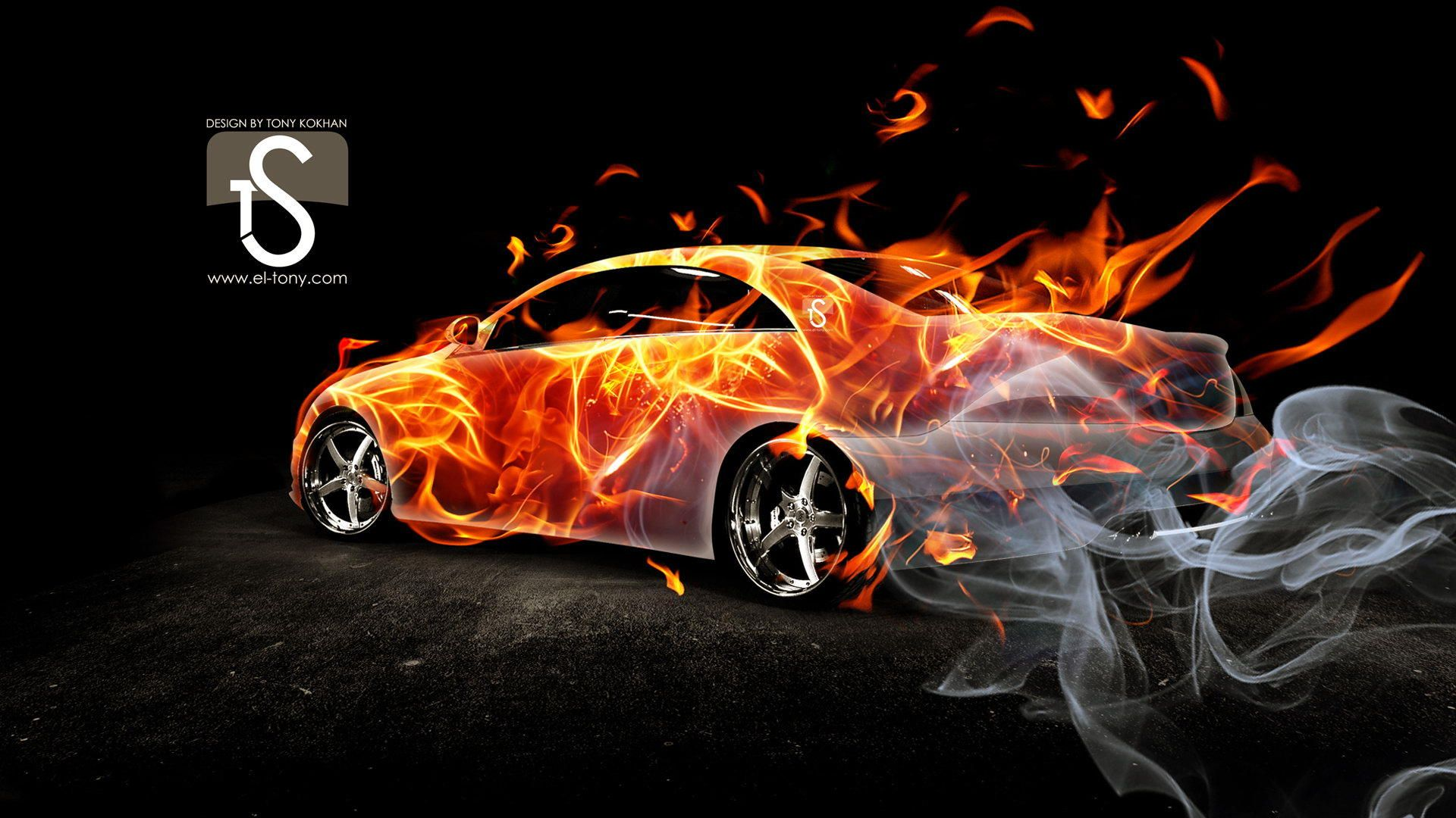 Classic Cars With Flames Beautiful Blasting Flames Ps Sport Most Expensive Car In The World Cool Car Backgrounds Car Backgrounds Cool Wallpapers Cars