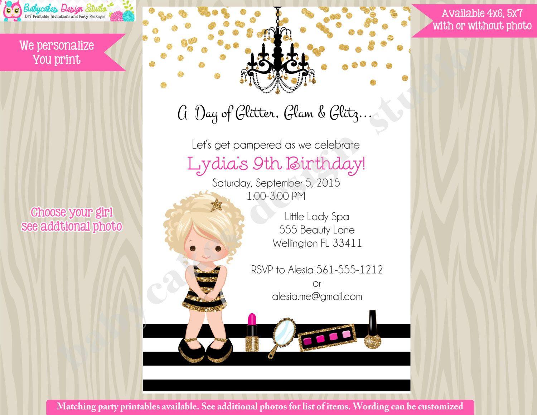 Birthday Diva Invitation Hollywood Invitation Diva Glam Party ...