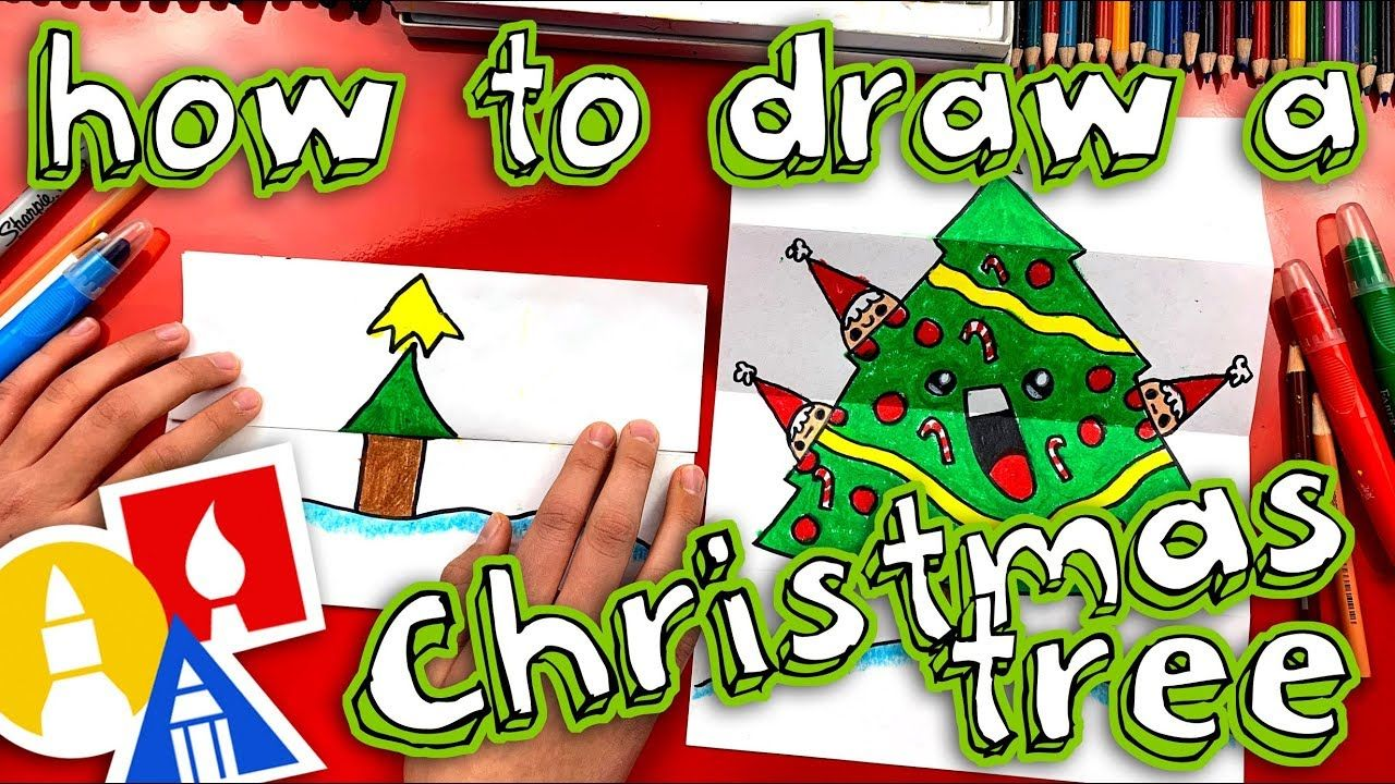 How To Draw A Christmas Tree Folding Surprise Art For Kids Hub Christmas Tree Drawing Arts And Crafts For Teens