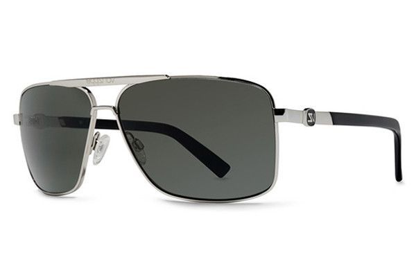 VonZipper - Metal Stache Silver SGY Sunglasses, Grey Lenses