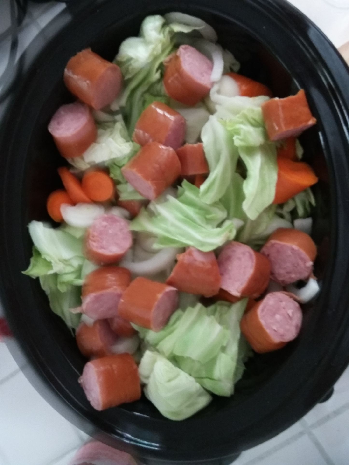 Photo of Crockpot Sausage and Cabbage