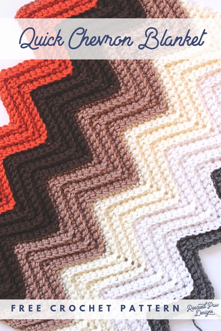 Easy Chevron Crochet Blanket Pattern Crochet For Beginners