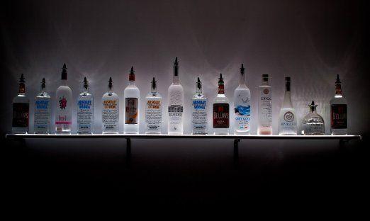 Amazon Com 2 Led Lighted Wall Mounted Liquor Shelves
