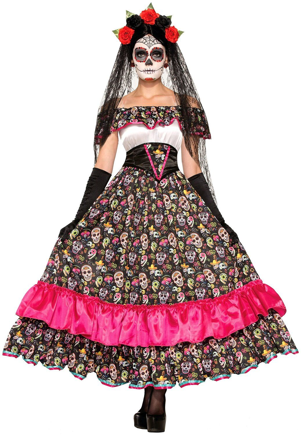 dia de los muertos costumes dia de costumes and halloween costumes. Black Bedroom Furniture Sets. Home Design Ideas