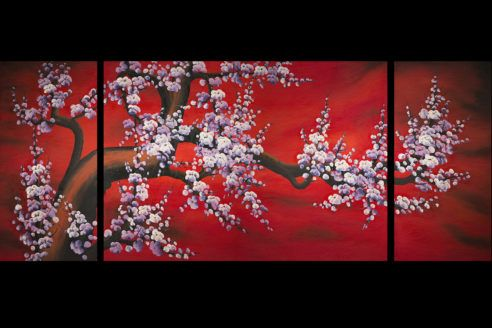 Chinese Wall Art Makes Your Home More Beautiful Chinese Wall Art Cherry Blossom Painting Asian Wall Art