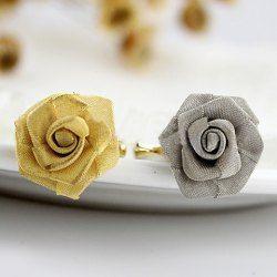 $2.45 Chic Ribbon Rose Embellished Alloy Finger Ring For Women