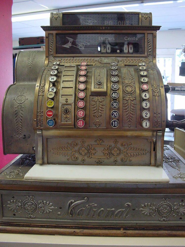 Antique 1900 National Cash Register Model 441 National