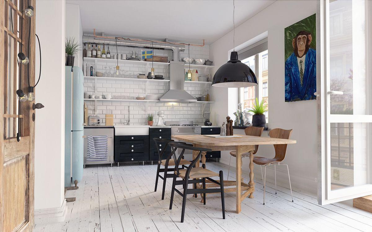 Amazing Cozy Scandinavian Interior In Gothenberg(Free 3D MODEL) On Behance