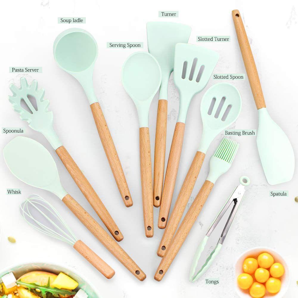 Spatula Spoon /& Tongs Typhoon Wooden Bamboo Kitchen Utensil Set