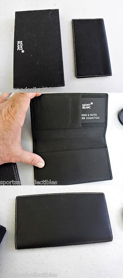 Business And Credit Card Cases 105860 Montblanc Checkbook Holder Black Leather Brand New Old Stock