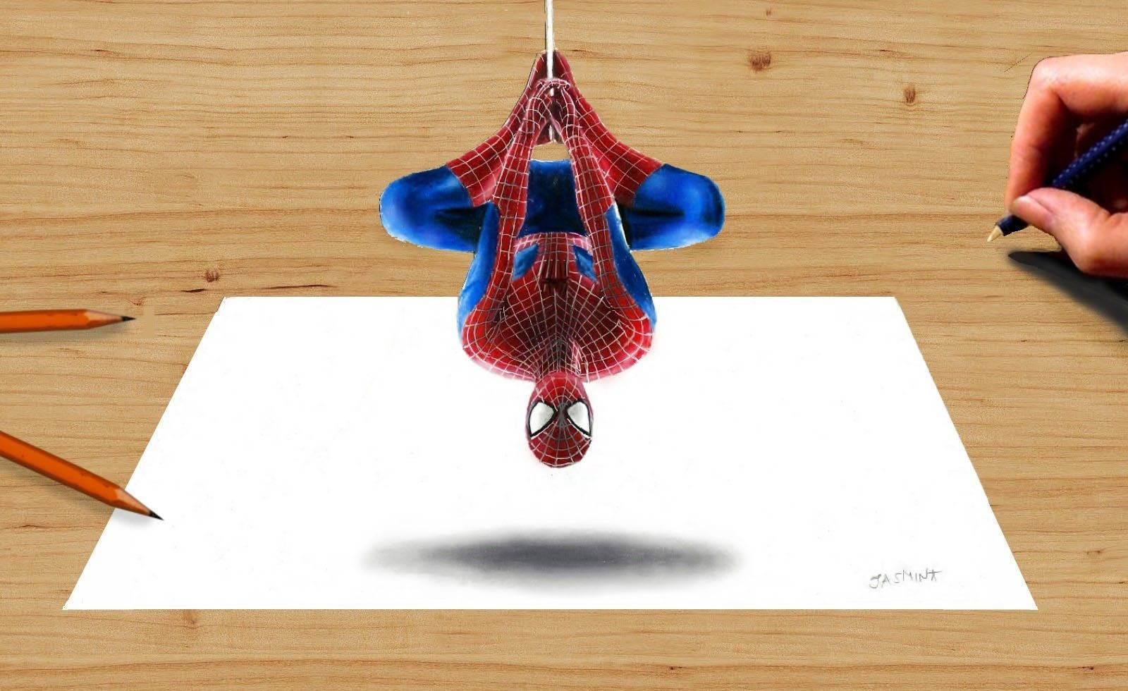 3d pencil drawing the amazing spider man 2 speed draw how to draw
