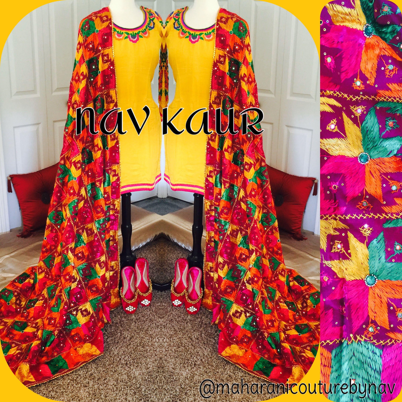 DM Insta : maharanicouturebynav or email maharanibq@gmail.com  Phulkari love  #phulkari#love#punjab#punjabi#outfit#navkaur#mycouture#designing#desiwedding#patiala#salwar#kameez#lace#yellow#phulkari#bkaur#indianoutfit#indianwedding#indianbride#pakistaniwedding#pakistanibride#pind#life#gidha#bhangra#ladysangeet#jaggo#Viah#dhol#nachna#punjabibride#bridesmaid#designershoes#deginerduppata