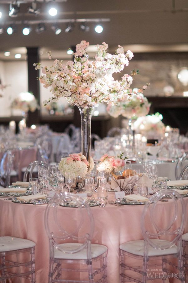 Dreamy Pink Flower Filled Toronto Wedding Table Mariage Rose