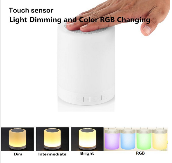 Function Introduction For Touch Lamp With Bluetooth Speaker Touch Lamp Portable Speaker Bluetooth Speaker