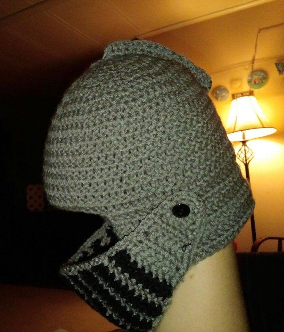 Medieval Helmet Crochet Pattern by StitchingPeaches on Etsy ...