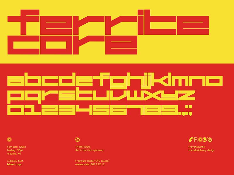 Ferrite Core A Free Futuristic Font Freebiesbug Futuristic Fonts Futuristic Typography Free Typeface