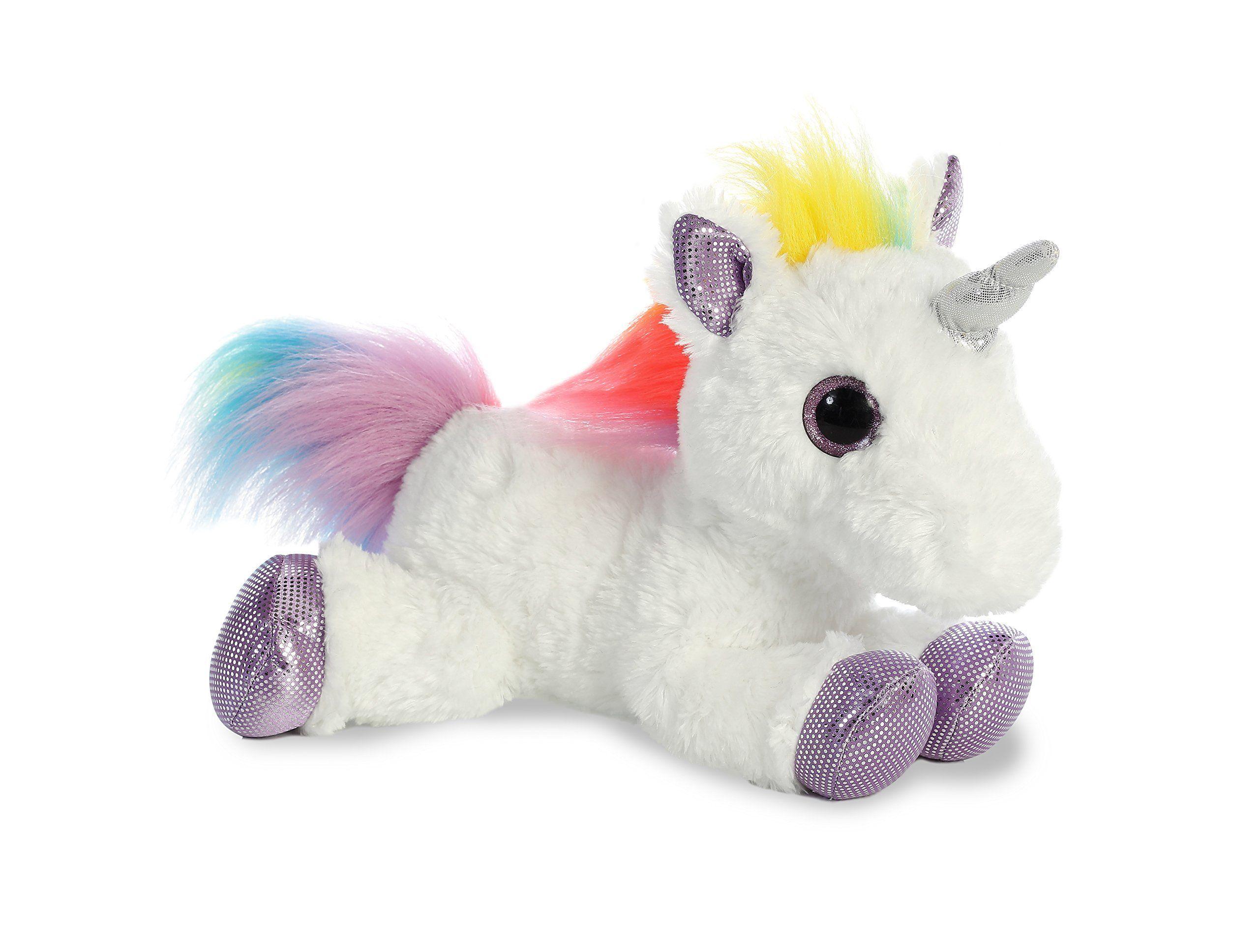 Aurora World Flopsie Plush Toy Animal Rainbow Unicorn 12