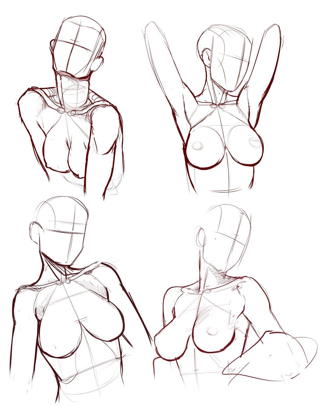 Estructuras simétricas de cuerpo femenino | dibujo | Pinterest ...