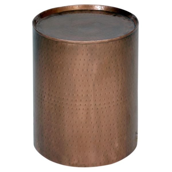 Wanderloot Rotonde Hammered Copper Metal Industrial Round Side Table  (India) | For The New House?? | Pinterest | Copper Metal, Hammered Copper  And ...