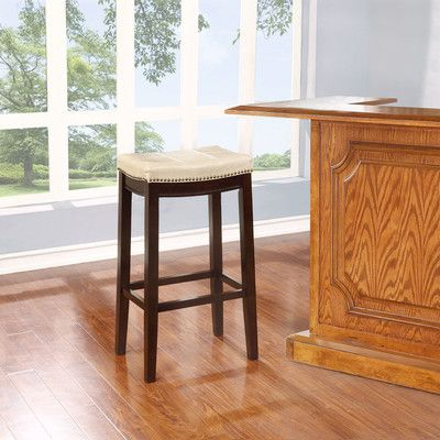Charlton Home Claridge Bar Stool With Cushion Reviews - Wayfair high top table