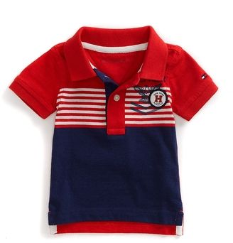 5e27aeaf ShopStyle: Tommy Hilfiger Final Sale-Stripe Sailing Polo | Boy ...