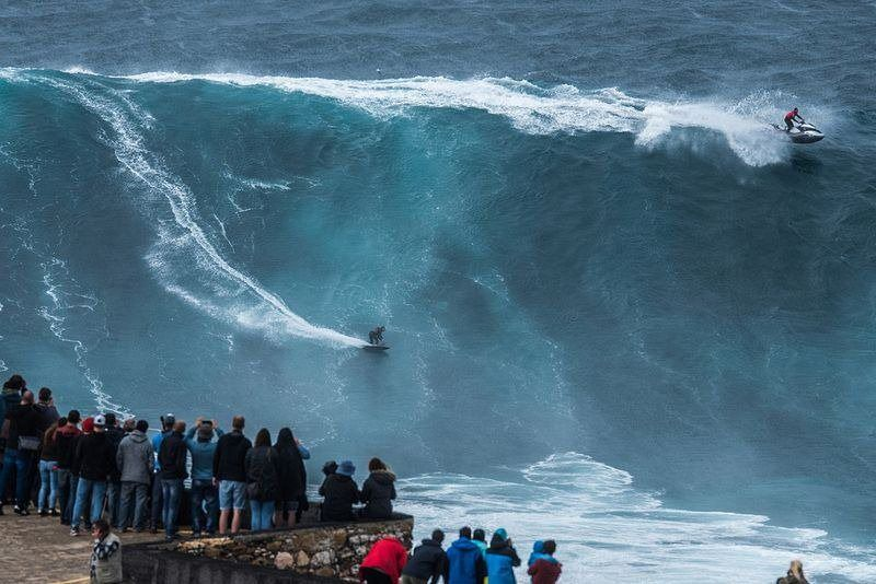 Super Scary Monster Waves At Nazare Portugal