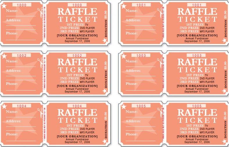 raffle ticket templatefree raffle ticket template Ticket