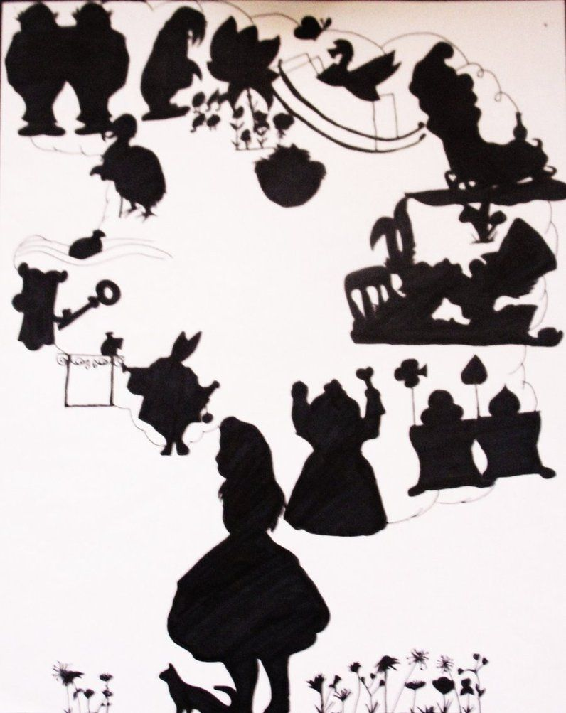 Alice in Wonderland Silhouettes by Kooko-Xochiquetzal ...