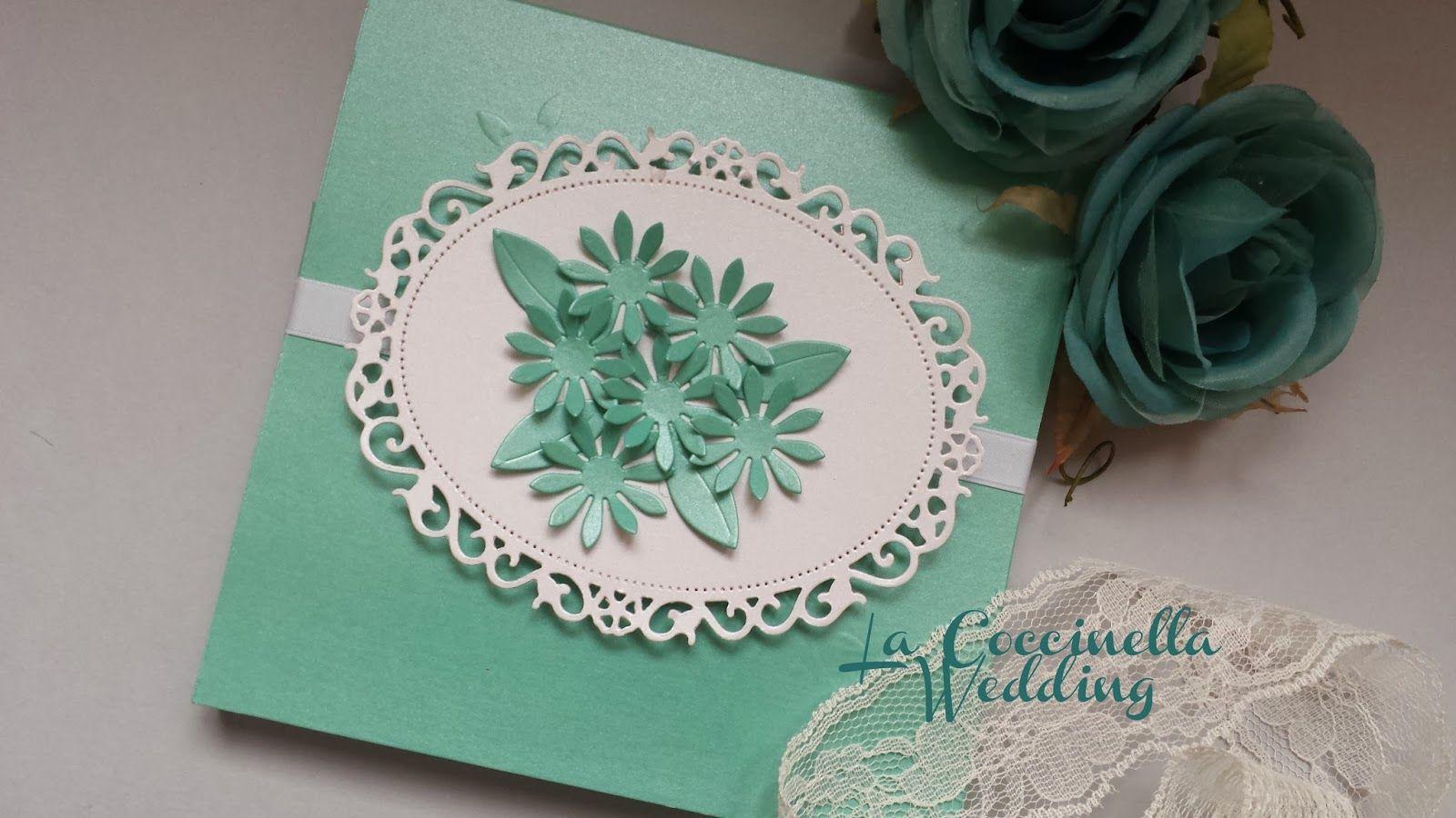 La Coccinella Wedding: Partecipazione Verde Tiffany