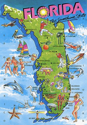 Florida map we have been to St Augustine and Daytona Beach