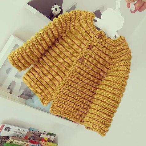 Knit baby cardigan – merino knit baby cardigan – handknit sweater – handmade newborn – knit baby jacket – newborn knit
