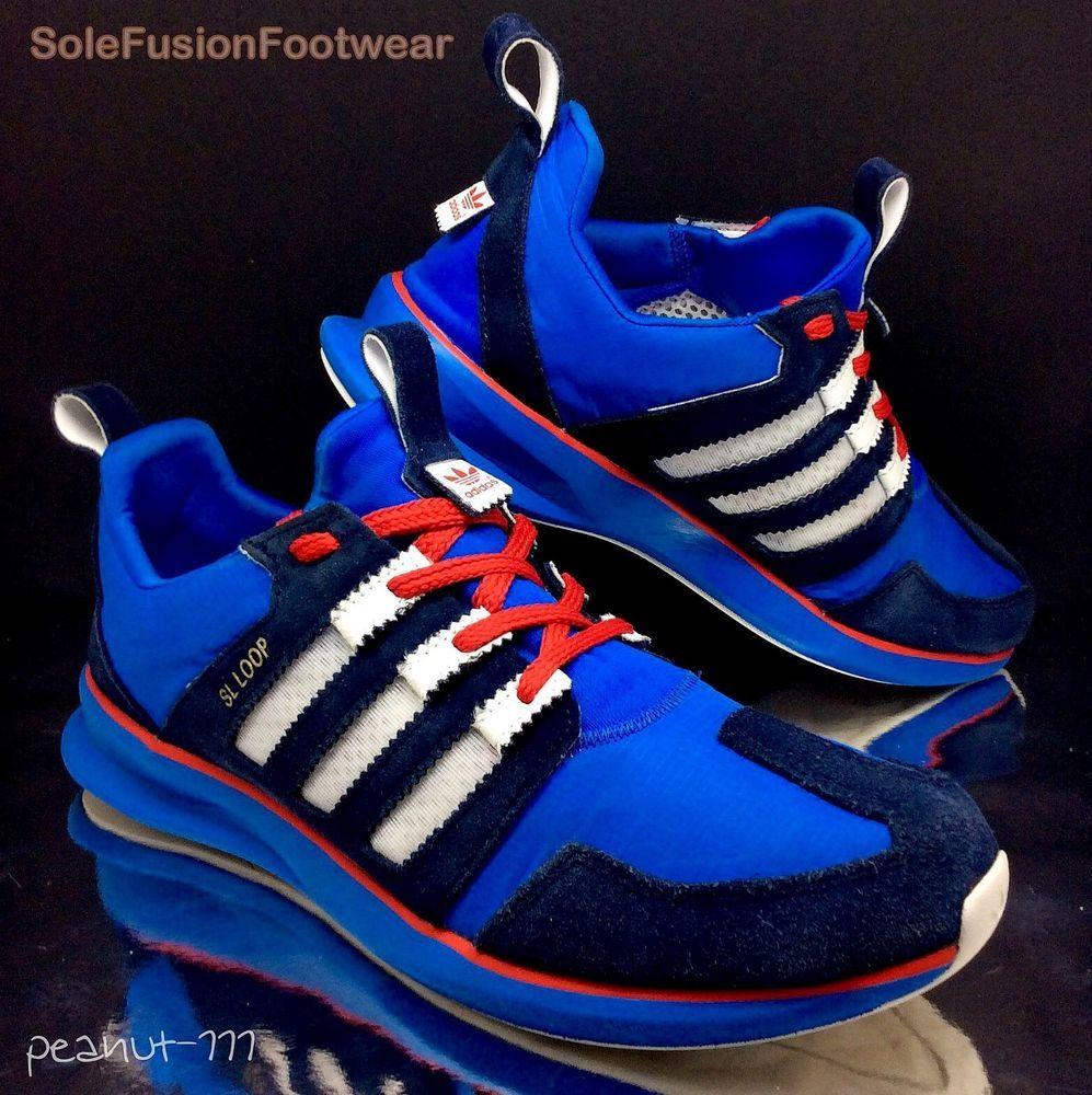 7d92635400ba adidas+Originals+Mens+SL+LOOP+Blue Red+Trainers+sz+10.5+LTD+Sneaker+US+11+45+1 3