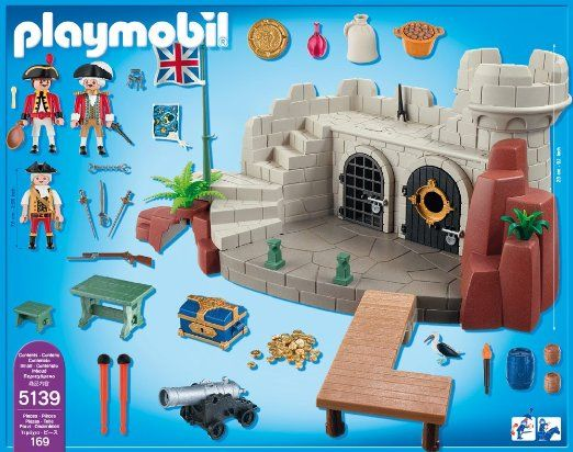 Topmoderne Playmobil - Pirates - SOLDIERS FORT with DUNGEON (#5139) $55 BR-91