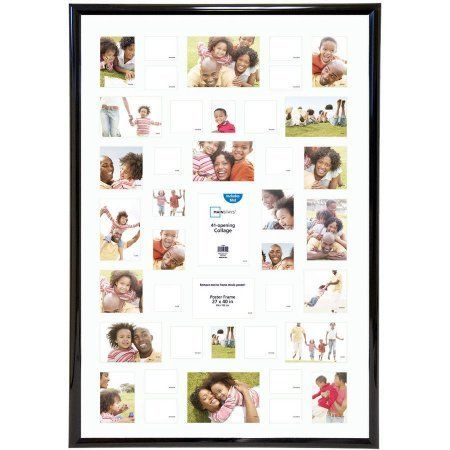 Mainstays 27x40 41opening Trendsetter Collage Poster Picture Frame Made Of Plasticplexiglass Insert Black Collage Poster Frame Collage Poster Poster Pictures