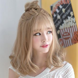 Sevenq Medium Full Wig Straight Yesstyle Hair Styles Kawaii Hairstyles Long Hair Styles