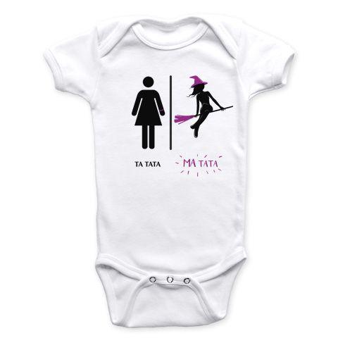 d980f4e729b0b Super-héros - Ma tata - Body Bébé manches courtes - Coton biologique -  Blanc  body  bébé  baby  geek  superheros