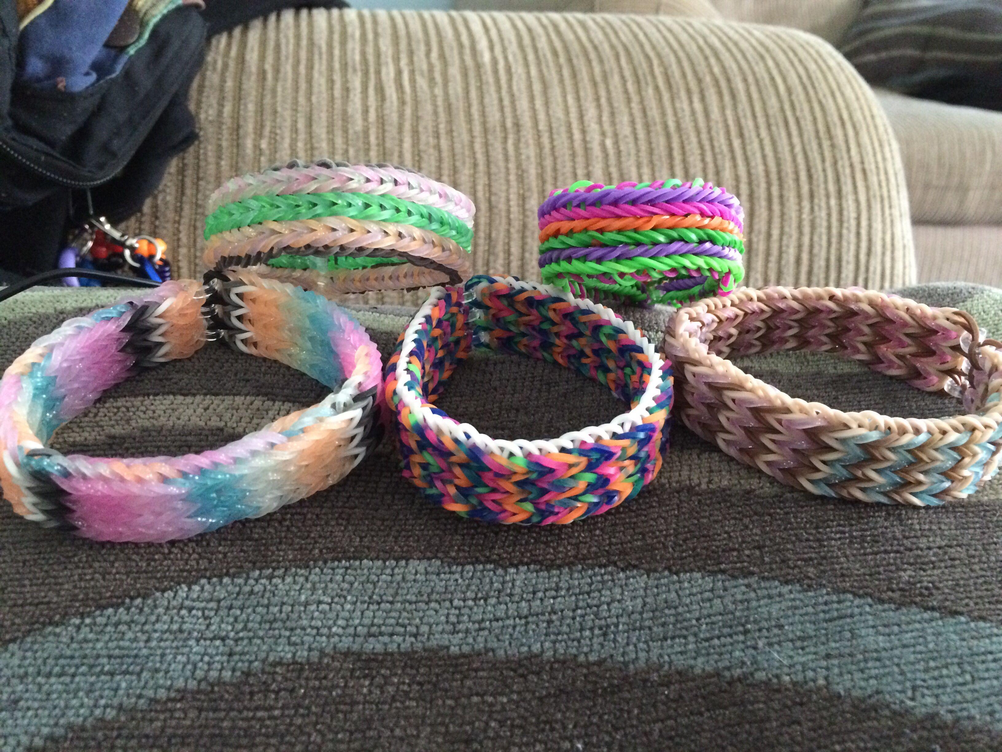 Rainbow Loom Triple Fishtail Bracelets Tutorial By
