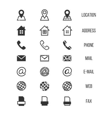 Business Card Icons Home Phone Address Vector Business Card Icons Vector Business Card Address Icon