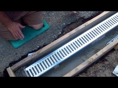 Install a trench drain video 1 of 7 youtube yard for Residential trench drain systems