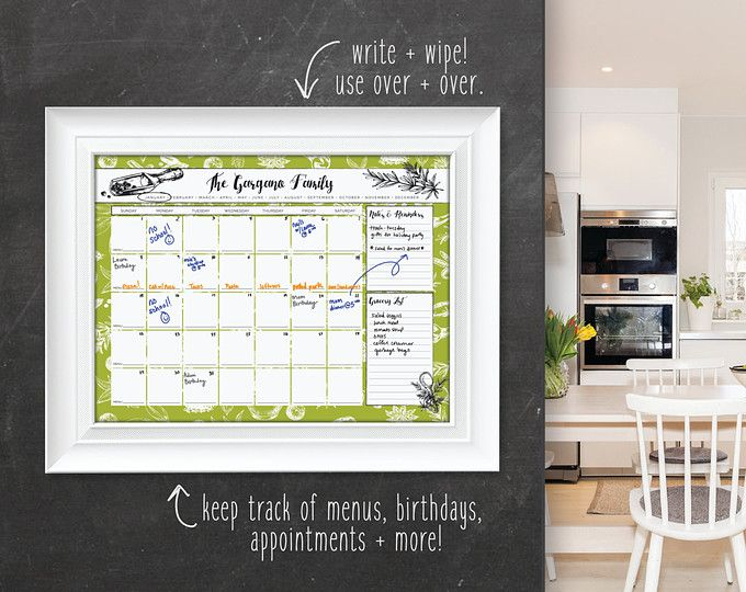 Kitchen calendar wall calendar large family calendar calendar push pin travel maps wedding guest books world maps by paperramma gumiabroncs Gallery