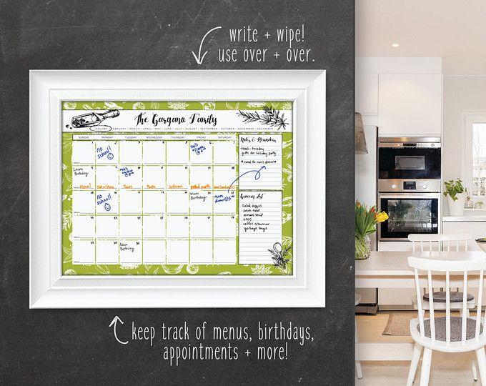 Kitchen Calendar Wall Calendar Large Family Calendar Calendar