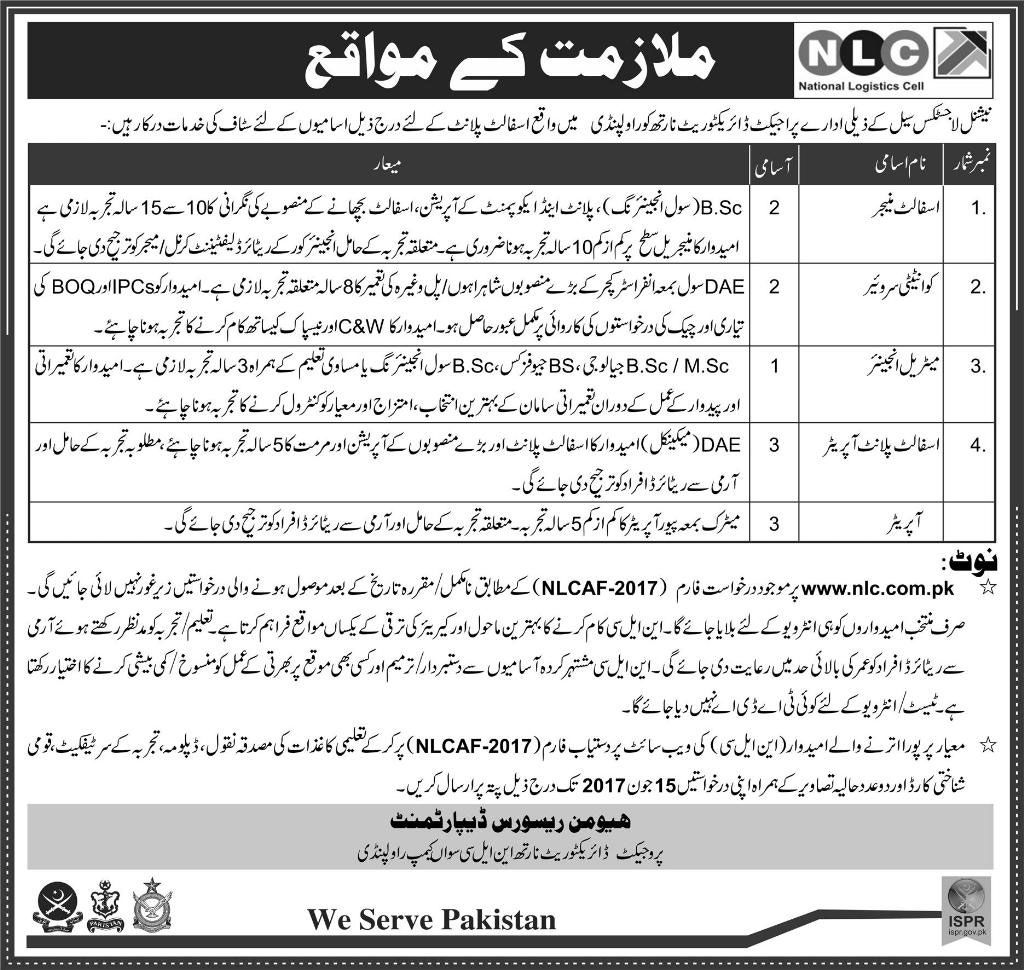 Latest Jobs In National Logistic Cell For Asphalt Manager  Others