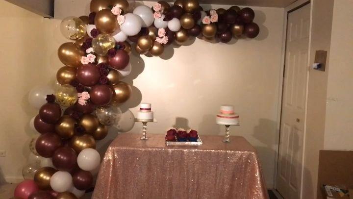 Balloon garland on walls  #Balloon #decoration #decorations #Garland #walls
